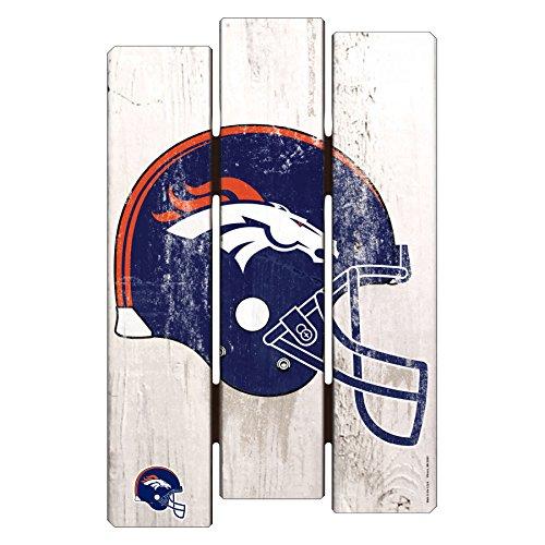 NFL Denver Broncos Wood Fence Sign, 11 x 17