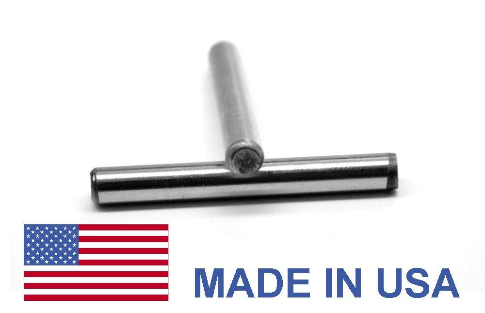 1/2 x 1 1/2 Dowel Pin Hardened & Ground - USA Alloy Steel Ebony Finish Pk 20