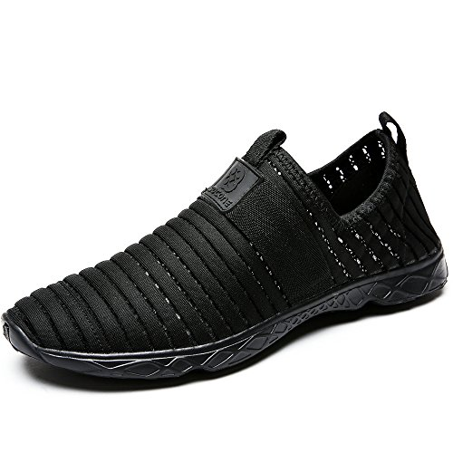 Water Sport Shoes Aleader Men's Comfortable Tennis Walking Shoes Black 10.5 D(M) US