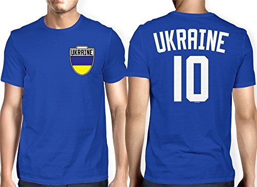 Mens Ukraine Ukrainian Football T shirt
