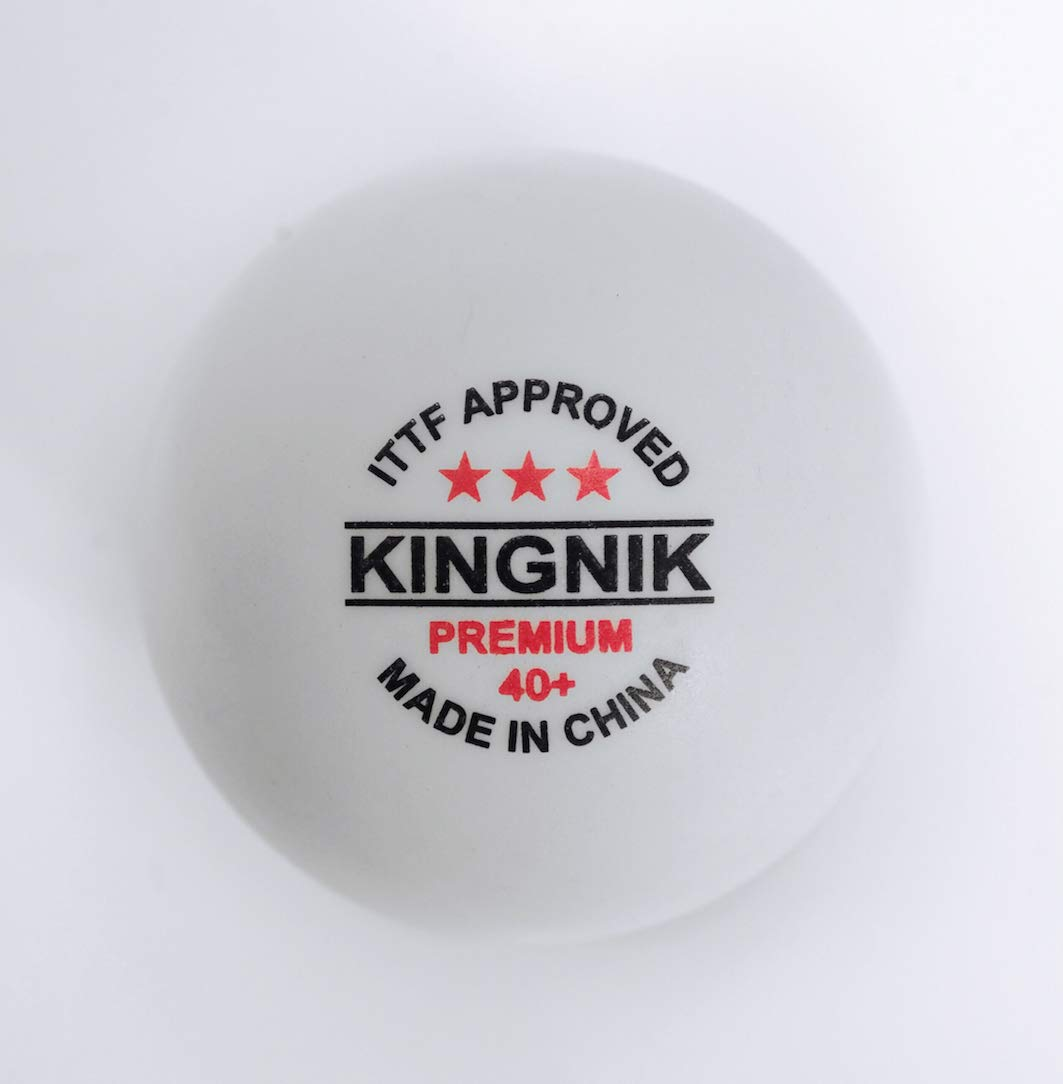 Table tennis balls. pingpong balls. beerpong balls. ITTF approved KINGNIK brand Premium 3 star 40+ plastic (competition ping pong ball) 6 BALLS PER BOX.