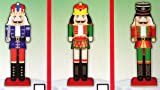 Double Sided NUTCRACKER Stand Up Table or Wall, Door or Window CHRISTMAS HOLIDAY DECORATION 26 Inches Tall (Set of 3)