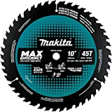 "Makita B-62103 10"" 45T Carbide-Tipped Max Efficiency Miter Saw Blade"