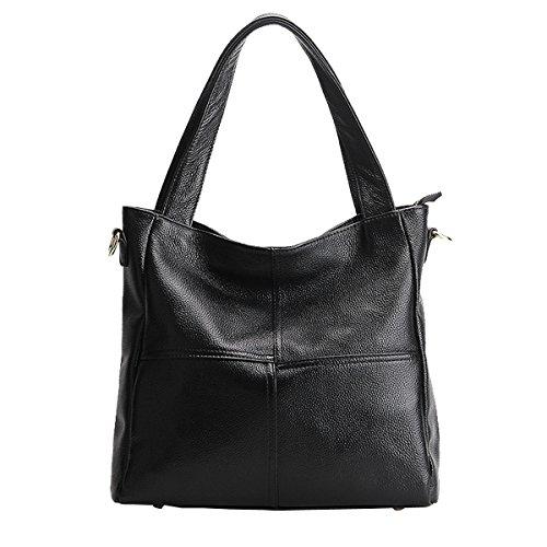 Valin 1823 Sac portés Sac portés main main Sac épaule fashion femme Sac Noir cuir LF à bandoulière en rZxArB