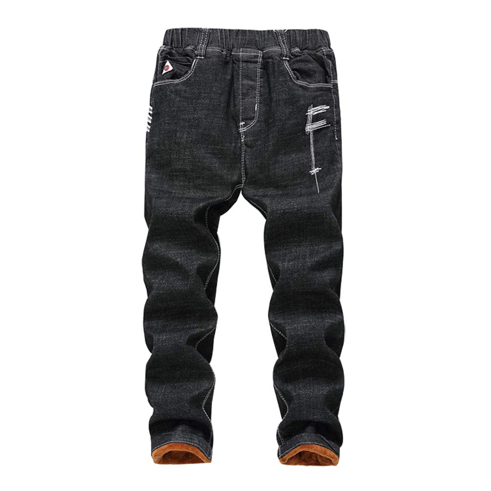 Lau's Boys Jeans Pants Pull on Winter Lined Jeans Slim Fit Lau' s