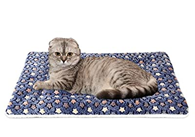 Mora Pets Ultra Soft Pet (Dog/Cat) Bed with Cute Prints | Reversible Fleece Crate Bed Mat | Machine Washable Pet Bed Liner by Mora Pets
