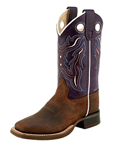 68a0d432a6a Amazon.com | Old West Children's Leather Pull-On Broad Square Toe ...