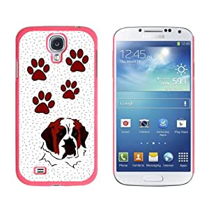 Graphics and More Saint Bernard of Glory Snap-On Hard Protective Case for Samsung Galaxy S4 - Non-Retail Packaging - Pink