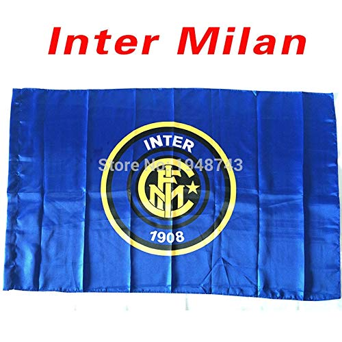 - Value-Smart-Toys - World Cup The Inter Milan Flag Football Club Satin Lining As Like Silk 5x3 FT 150x90 CM In-kind Shooting