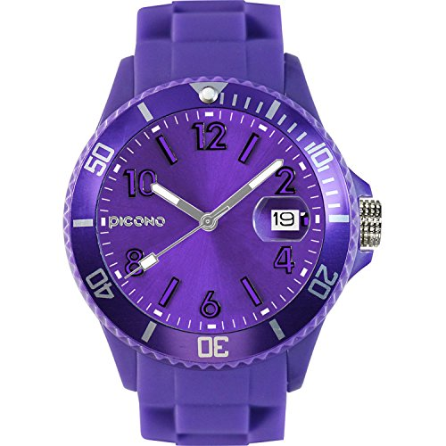 PICONO Purple Time and Date Water Resistant Analog Quartz Watch - No. 03 by PICONO