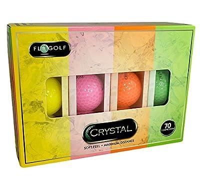 Crystal Golf BallsRainbow 1 Dozen by Fl  Golf Inc