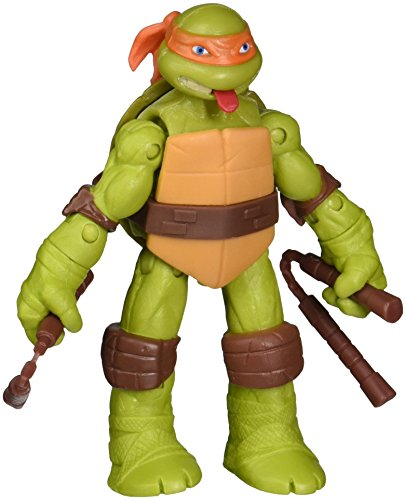 Teenage Mutant Ninja Turtles Tongue Pop Out Michelangelo Action Figure with Nunchucks -