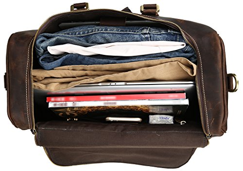 Polare Real Leather Vintage Travel Luggage Duffle Bag /Gym Bag/ Overnight bag by Polare (Image #7)