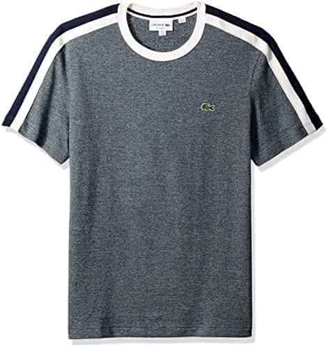 c17df7804dc47 Lacoste Men s Short Sleeve Reg Fit Faux Made in France Tee
