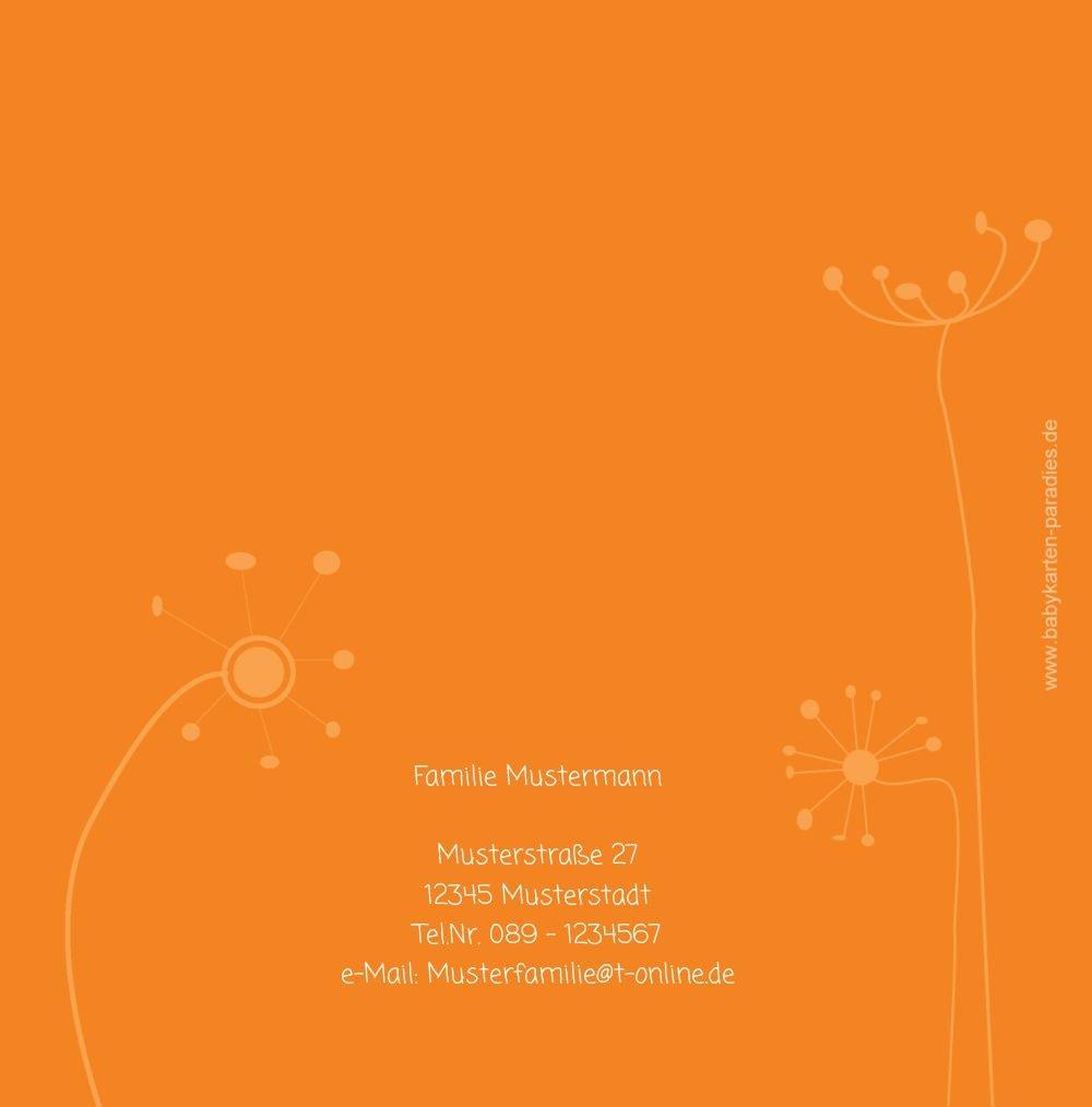 Kartenparadies Danksagung für Geburt Geburt Geburt Baby Dankeskarte abstrakte Blaumen, hochwertige Danksagungskarte Baby inklusive Umschläge   100 Karten - (Format  145x145 mm) Farbe  Orange B01MUGKQ0D | Vorzugspreis  | Jeder beschriebene Artikel ist verfügb b11149