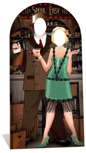 SC682 Roaring 20's Couple Stand-In Cardboard Cutout Standup - Roaring 20 Party Decorations