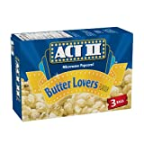 ACT II Butter Lover's Microwave Popcorn, 3 Pack Snack Size (Pack of 12)