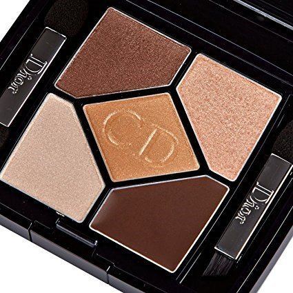 Dior One Colour Eye Shadow - Christian Dior 5 Color Designer All in One Artistry Palette for Women, No. 708 Amber Design, 0.15 Ounce