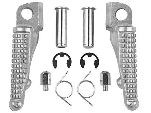 TCMT Silver Front Foot Pegs Motorcycle Footpeg Footrest Bracket Set For Kawasaki ZX-6R 2003 2004 2005 2006 2007 2008 2009 2010 2011 2012 2013