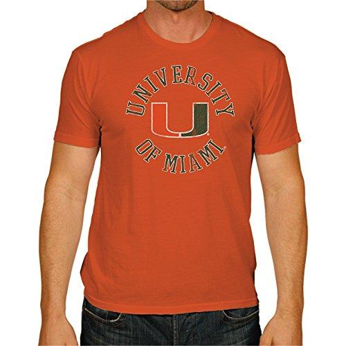 NCAA Miami Hurricanes Men's Victory Vintage Tee, Large, Orange