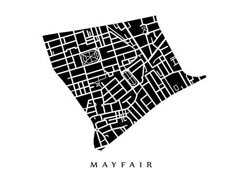 Mayfair Neighborhood Map - London, England - Mayfair London Map