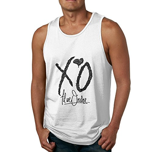 Duola Men's Loose Waistcoat Love Xo Album Size S White (Top 100 Albums Of All Time Billboard)
