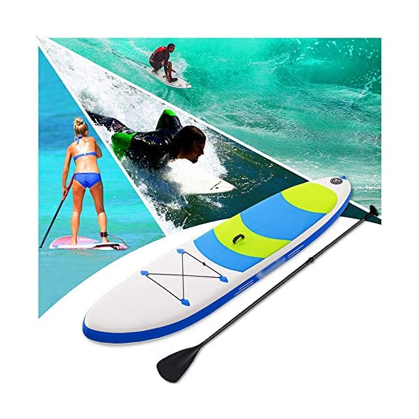 Stand Up Paddel Gonfiabile Non Slip gonfiabile SUP Stand Up Paddle Board con regolabile bagagli Paddle Carry Bag e la… 6 spesavip