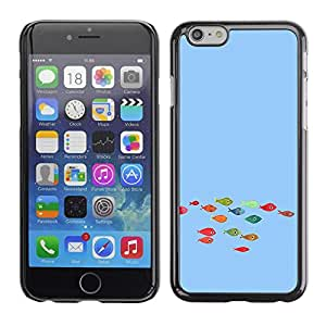 LECELL -- Funda protectora / Cubierta / Piel For Apple iPhone 6 -- Funny Colorful Koi Fish --