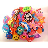 1 X 105 Assorted Rubber Charms
