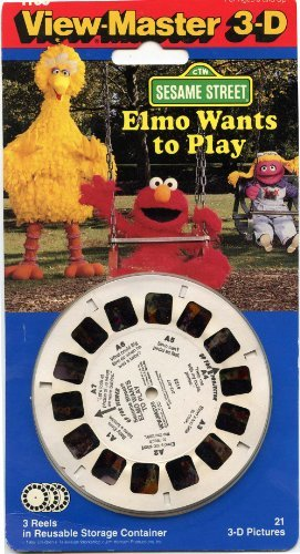 ViewMaster - Elmo Wants to Play - Sesame Street - 3 Reels on Card by 3Dstereo ViewMaster