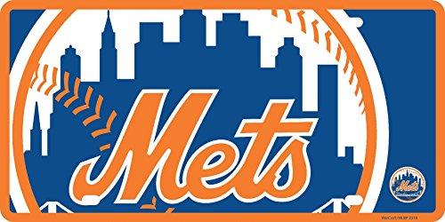 (Stockdale New York Mets Mega Logo Design Premium Laser Tag Acrylic License Plate Baseball)