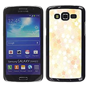 - Wisedeal Retro Stripe Flower - - Hard Plastic Protective Aluminum Back Case Skin Cover FOR Samsung GALAXY Grand 2 g7106 g7108v g7109 Queen Pattern