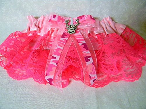 Redneck Party Wedding Bridal Hot Pink Camo Custom Design garter deer hunter (Pink Camo Wedding Garters)