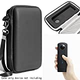 Protective Case for digital camera By WGear, applicable for Ricoh Theta S, V 360 and Theta SC 360 Degree Spherica, Customized Dense Absorbing Sturdy Foam Inlay, Mesh Pocket Inside Matte Black