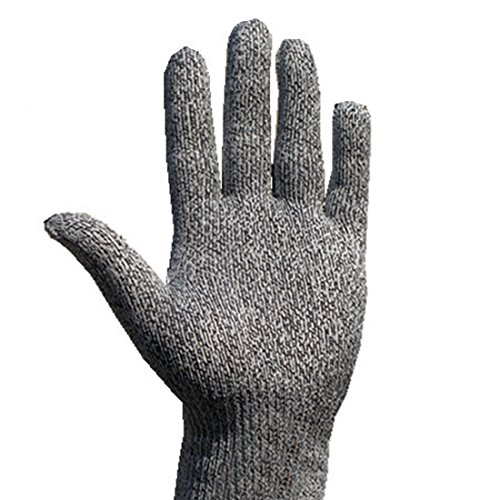 Safety Cut Proof Stab Resistant Stainless Steel Wire Metal Mesh Butcher Gloves White Border M - Metal Mesh Glove