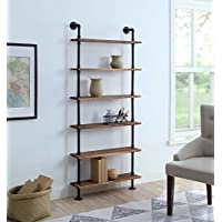 4D Concepts Anacortes SHELFS, Black Pipe/Brown Shelves