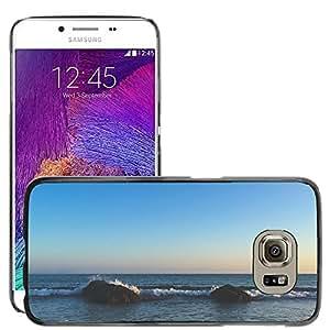 Super Stella Slim PC Hard Case Cover Skin Armor Shell Protection // M00421702 Ocean Rocks Sea Nature Beach // Samsung Galaxy S6 (Not Fits S6 EDGE)