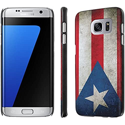 Galaxy [S7 Edge] [5.5 Screen] Phone Case [NakedShield] [Black] Ultra-Slim Jacket Cover Case - [Flag Puerto Rico] for Samsung Galaxy [S7 Edge] [GS7 Edge] Sales