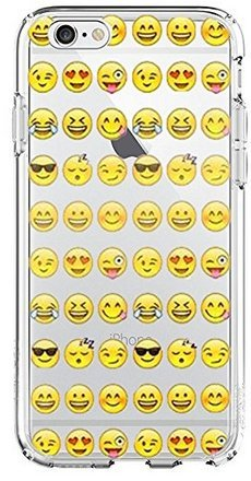 (SHARK Cool Smiley Faces emoji Funky Case for iPod Touch 5-Clear)
