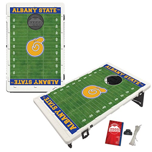 Albany State Golden Rams Baggo Bean Bag Toss Cornhole Game Homefield Design by Victory Tailgate