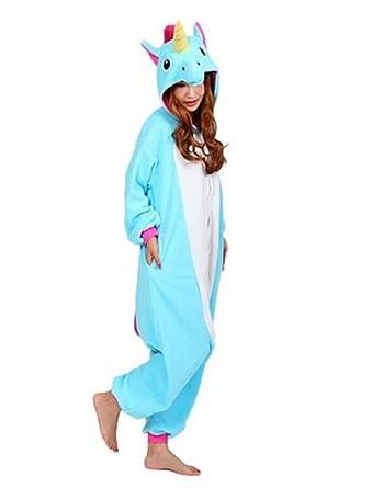HFY Adult Unicorn Unisex Pyjamas Kigurumi Halloween Onesie Costume (XL(Body height:178
