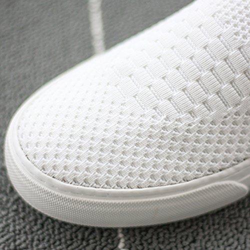 uk6 Plates cn39 Noir Casual Respirant Femmes Toile Blanc Chaussures Taille Couleur Nan D'été Eu39 Round Confortable Toe wYpSZPqf