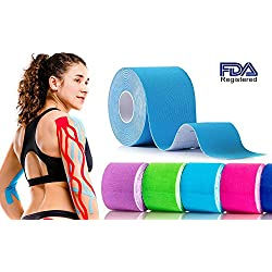Kinesiology Tape Strapping Taping Athletic Sports Tape For Men Knee Shoulder Elbow Ankle Neck Muscle Superior Waterproof Adhesion Non Latex Safe For Kids Pregnant Women