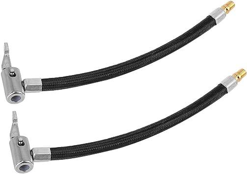 X AUTOHAUX 60cm Flexible Car Tyre Inflator Extension Hose Tube Valve Adapter