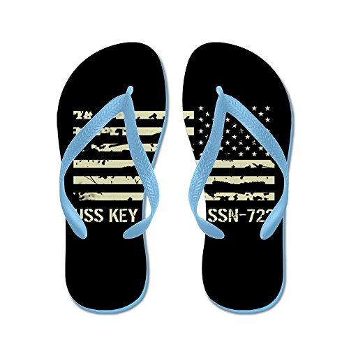 Key West - Infradito, Sandali Infradito Divertenti, Sandali Da Spiaggia Blu Caraibico