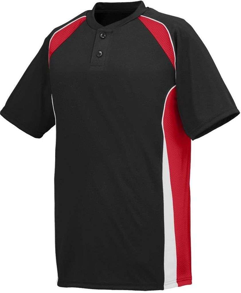 Augusta SportswearメンズベースHit Baseball Jersey B00HJTK6JU Small|ブラック/レッド/ホワイト ブラック/レッド/ホワイト Small