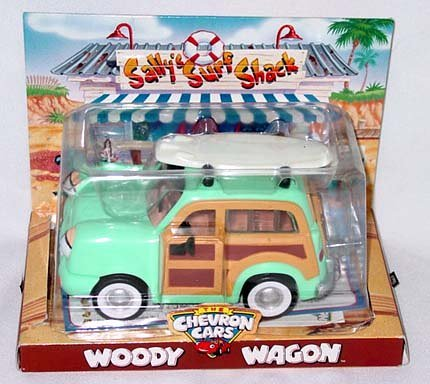 Chevron Toy Car Woody Wagon (Chevron Car)