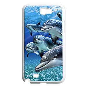 Dolphin Samsung Galaxy N2 7100 Cell Phone Case White gife pp001_9298369