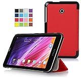 VSTN ® ASUS MeMO Pad 7 ME170CX / ASUS MeMO Pad 7 ME170C/ ASUS Fonepad 7 FE170CG ultra-thin Smart Cover Case, Only fit ASUS MeMO Pad 7 ME170CX / ASUS MeMO Pad 7 ME170C/ ASUS Fonepad 7 FE170CG tablet (Red)