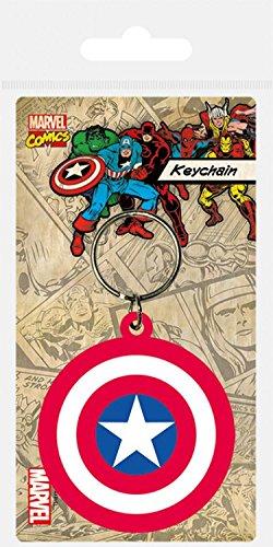 1art1® Capitán América - Escudo, Avengers Assemble Llavero (6 x 4cm)